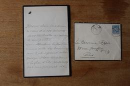 Lettre Autographe Comtesse De Lessep Canal De Panama  Rare Lettre  Anti Franc Mâcon - Documents Historiques