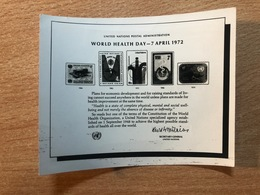 United Nations Unies New York UN UNO ONU 1972 - Epreuve Photo Publicity Essay World Health Day Santé Gesundheit - New-York - Siège De L'ONU
