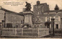 14740    ST  HILAIRE DES LOGES   MONUMENT DES COMBATTANTS DE 1870-71 - Saint Hilaire Des Loges