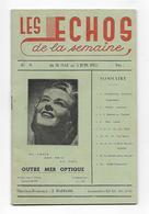 Les Echos De La Semaine - Livret De 24 Pages, Pub; 1955; Tananarive - Documents Historiques