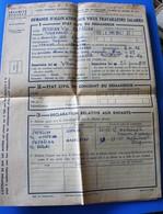 ARMENIA DEMANDE ALLOCATION VIEUX TRAVAILLEURS SALARIÉS SÉCURITÉ SOCIALE-ARMENIE P.ian-ANDRISNOPLE-CONSTANTINOPLE TURQUIE - Historical Documents