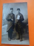 Carte Photo De Deux Blessés Du 168ème RI - Weltkrieg 1914-18