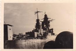 PHOTO ORIGINALE 39 / 45 WW2 WEHRMACHT FRANCE TOULON SABORDAGE DE LA FLOTTE 1942 LE STRASBOURG COULE A QUAI - Guerre, Militaire