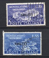 1951 Trieste A - Montecassino N. 119 - 20 Timbrati Used Sassone 8,5 € - 7. Triest
