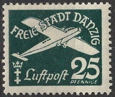 Danzig 1935 PA N° 253 MH Flugpost (G1) - Dantzig