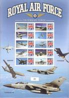 L0052 GREAT BRITAIN (GB) 2010, MNH Sheet Of Smilers,  Aircraft, Tornado, Typhoon - Personalisierte Briefmarken