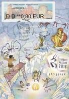 OT Sur CP : Exposition TIMBRES PASSION 2018, Vignette LISA Illustrée (Périgueux, 24-Dordogne-Périgord) Du 27-10-2018 - Gedenkstempels