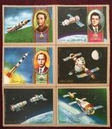 TS28 - UMM AL-QIWAIN 1972 Mi. 825A-830A Complete Set 6v. MNH - Soviet Space Programs & Astronauts, Heroes - Umm Al-Qiwain