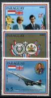 Paraguay Mi# 3392-4 Postfrisch/MNH - Diana And Charles Wedding, Concorde - Paraguay