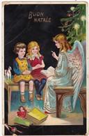 Buon Natale - Joyeux Noel : Dorure Gaufrée- : Anges, Enfants Et Jouets ( Carte Glacée ) - Sonstige