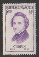 France Neuf Sans Charnière 1956 Célébrité Musique Musicien Frédéric Chopin YT 1086 - Frankreich