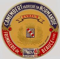 Etiquette Camembert    Fromagerie De Beaucé Eure Avec Evreux  Neuve  113mm - Fromage