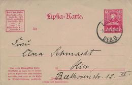 Lipsia-Karte Privat 5.1.99 Ganzsache Leipzig St. B. B. Stadtpost - Privatpost