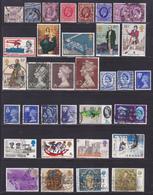 GRANDE-BRETAGNE LOT Timbres °/Used, Oblitérés, Etats Divers, (Lot 1413) - Collections