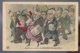 Satire Politique - Après Les Vacances. La Rentrée Du Ministère. Illustrateur Mille -1906 - Mille