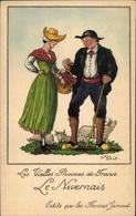 Artiste Cp Les Vieilles Provinces De France, Le Nivernais, Farines Jammet, Trachten, Rinder - Costumes