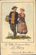 Artiste Cp Droit, Les Vieilles Provinces De France Le Poitou, Fruchtkorb Farines, Trachten, Jammet - Costumes