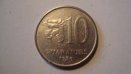MONNAIE PARAGUAY 10 GUARANIES 1976 - Paraguay