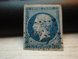 Timbre Empire Français 20 C. Napoléon III  Non Dentelé N° 14 N° 1249 - 1853-1860 Napoléon III