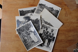6 Photos AFRIQUE NOIRE 1920 Mission Chasse Ethnie - Africa