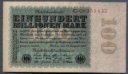 P107a Ro106a DEU-119a 100 Million Mark 1923 NEUF UNC - 100 Millionen Mark