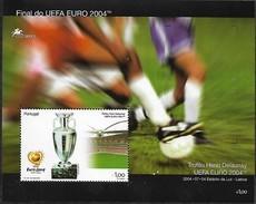 PORTUGAL 2004 Final Match UEFA EURO 2004 Soccer Football Cup Henri Delaunay Trophy, 1 SS MNH - Europei Di Calcio (UEFA)