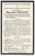 HALANZY ..-- Mademoiselle Marcelle RENAUD , Née En 1911 , Décédée En 1927 à HALANZY . . - Aubange