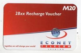 LESOTHO Prépayée ECONET M20 Année 2012 - Lesoto