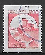 ITALIA 1980 SERIE CASTELLI D'ITALIA FRANCOBOLLI IN BOBINA SASS. 1530H USATO VF - 6. 1946-.. Republic