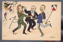 Satirique - Loubet - Victor Emmanuel- Nicolas II  - Illustrateur Moralès - Satira
