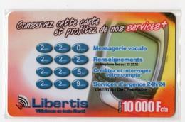 GABON Prépayée LIBERTIS 10 000 FCFA Date 2001 - Gabun
