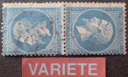 LOT R1592/10 - NAPOLEON III N°22b  GC 2049 : LIMOGES - VARIETE ➤➤➤ Tête-bêche (RARE+++) - Cote (2020) : 1400,00 € - 1862 Napoléon III