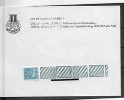 Oost-Duitsland  Rolzegel Vijfjarenplan Met Blindveld - Unused Stamps