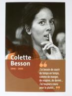 Colette BESSON - Athlète Française / Sport - Femme Célèbre - Carte Publicitaire RATP Station Prolongement Tram T3 - Donne Celebri