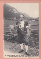 OUDE POSTKAART ZWITSERLAND - SUISSE - P. MOSSU - SOLISTE RANZ DES VACHES - BROC - 1906 - FR Fribourg