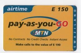 SWAZILAND PREPAYEE MTN AIRTIME E 50 - Swaziland