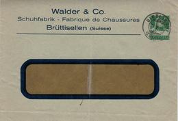 Walder & Co - Schuhfabrik Chaussures - Brüttisellen - Dietlikon 1928 - Entiers Postaux