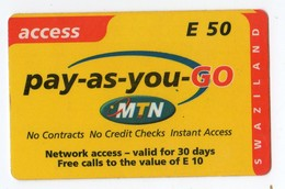 SWAZILAND PREPAYEE MTN ACCESS E 50 - Swaziland