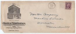 HOTEL / 1936 USA - CANTON - OHIO ENVELOPPE ILLUSTREE (ref GF128) - Hôtellerie - Horeca