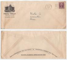 HOTEL / 1934 USA - ROCKFORD - ILL -  ENVELOPPE ILLUSTREE (ref GF131) - Hôtellerie - Horeca