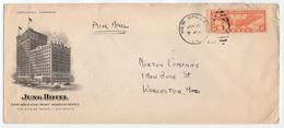 HOTEL / 1936 USA - NEW ORLEANS - LA -  ENVELOPPE ILLUSTREE (ref GF132) - Hôtellerie - Horeca