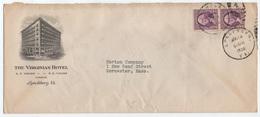 HOTEL / 1936 USA - LYNCHBURG - VA -  ENVELOPPE ILLUSTREE (ref GF133) - Hôtellerie - Horeca