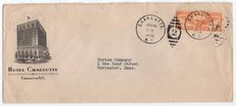 HOTEL / 1935 USA - CHARLOTTE - NC -  ENVELOPPE ILLUSTREE (ref GF134) - Hôtellerie - Horeca