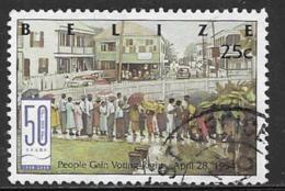 Belize Scott # 1136 Used Voting Rights, 2000 - Belize (1973-...)