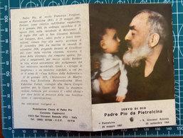 Padre Pio Da Pietrelcina SANTINO Reliquia - Andachtsbilder