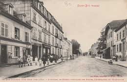 Saint-Dié - La Rue D'Alsace (vue Prise De L'est) - Le Bureau Auxiliaire Des Postes, Télégraphes Et Téléphones - Saint Die