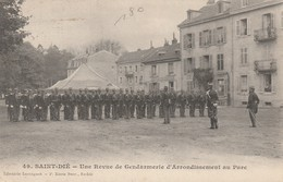 Saint-Dié - Une Revue De Gendarmerie D'Arrondissement Au Parc - Saint Die
