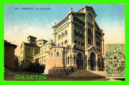 MONACO - LA CATHÉDRALE NOTRE-DAME - CIRCULÉE EN 1917 - ÉDITION GILETTA PHOTO - - Kathedrale Notre-Dame-Immaculée