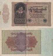 Germany / 5000 Mark / 1922 / P-78(a) / VF - [ 3] 1918-1933 : Repubblica  Di Weimar