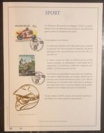 Belgique - FDC - Premier Jour - YT N° 2819 Et 2820 - Sport - Motocyclisme - 1999 - 1991-00